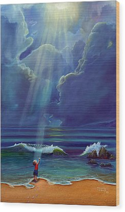 Mother Nature's Kiss Wood Print by Stephen Kenneth Hackley