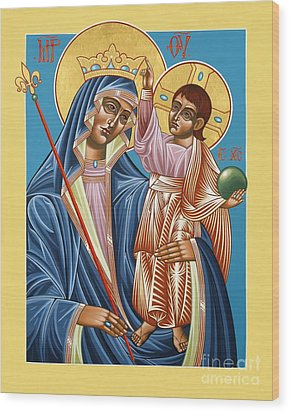 Wood Print featuring the painting Mother Of God Asking For Humility 143 by William Hart McNichols
