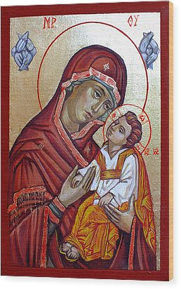 Mother Of God Wood Print by Filip Mihail