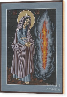 Wood Print featuring the painting Mother Of God Of Kosovo 087 by William Hart McNichols