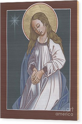 Mother Of God Waiting In Adoration 248 Wood Print by William Hart McNichols