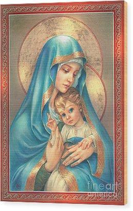 Mother Of God Wood Print by Zorina Baldescu