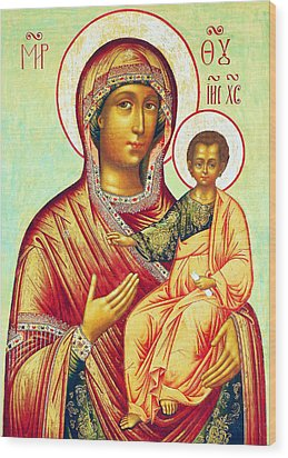 Mother Of Jesus Wood Print by Munir Alawi