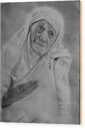 Mother Theresa 2 Wood Print