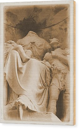 Wood Print featuring the photograph Mother With Children by Nadalyn Larsen