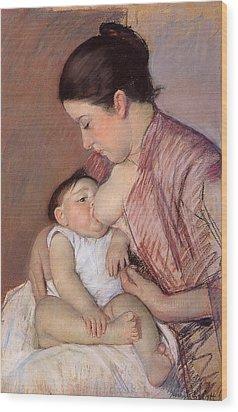 Motherhood Wood Print by Marry Cassatt