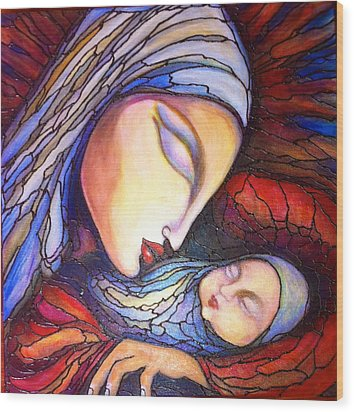 Motherhood Wood Print