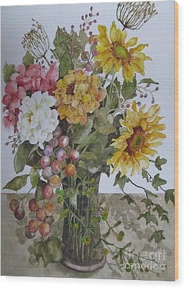 Mother's Day Bouquet Wood Print by Karen Olson