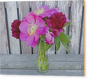 Mother's Day Bouquet Wood Print by Nick  Boren