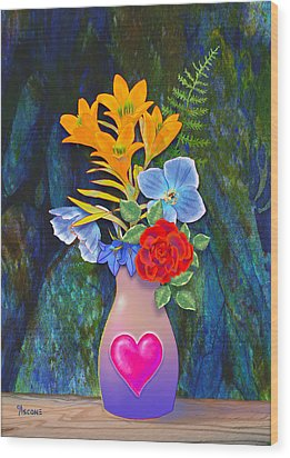 Mothers Day Bouquet Wood Print by Teresa Ascone