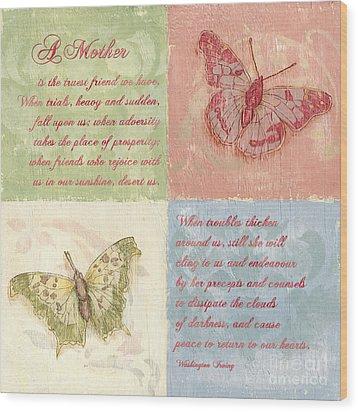 Mothers Day Butterfly Wood Print by Debbie DeWitt