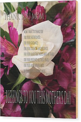 Mothers Day Cards Wood Print by Debra     Vatalaro