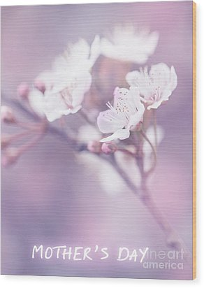 Mother's Day Greeting Card Wood Print