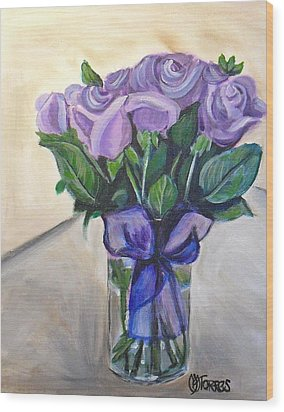 Mother's Day Roses Wood Print by Melissa Torres