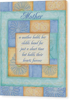 Mother's Day Spa Card Wood Print by Debbie DeWitt