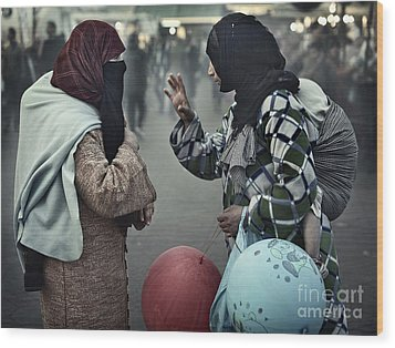 Mothers Having A Ball Wood Print by Michel Verhoef