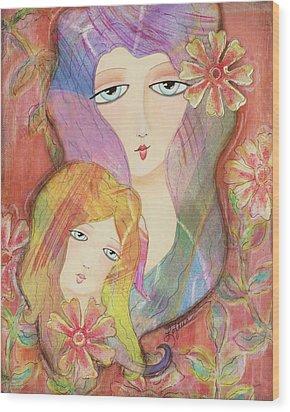 Mothers Love Wood Print by Joann Loftus