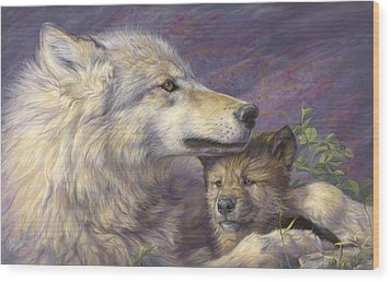 Mother's Love Wood Print by Lucie Bilodeau
