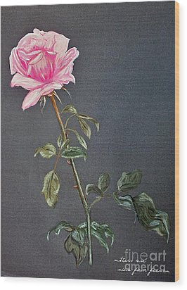 Mothers Rose Wood Print by Nina Ficur Feenan