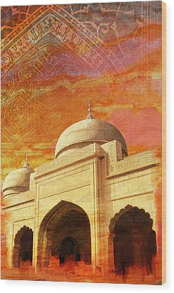 Moti Masjid Wood Print by Catf