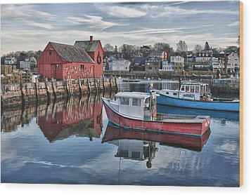 Motif 1 Sky Reflections Wood Print