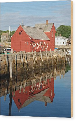 Wood Print featuring the photograph Motif 1 With Reflection by Richard Bryce and Family