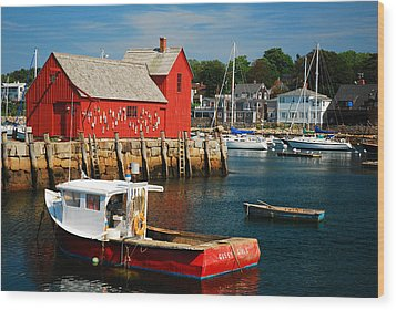 Motiff 1 In Rockport Wood Print by James Kirkikis