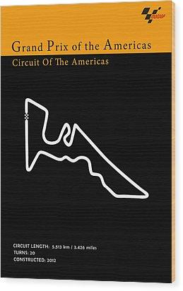 Moto Gp Of The Americas Wood Print by Mark Rogan