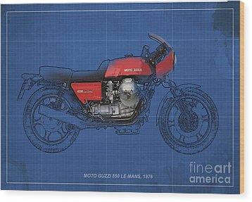 Moto Guzzi 850 Le Mans 1976 Wood Print by Pablo Franchi