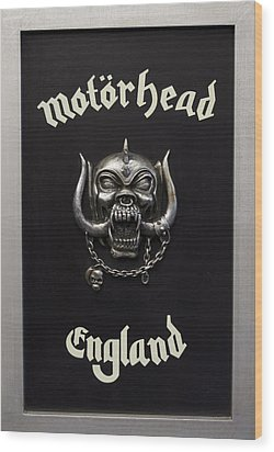 Motorhead England Wood Print by Jerry Cordeiro