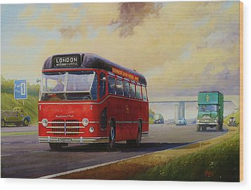 Motorway Express 1959. Wood Print by Mike  Jeffries