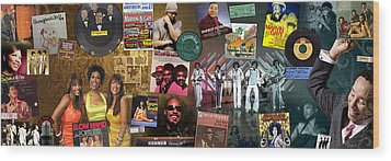 Motown Music Panoramic Wood Print by Retro Images Archive
