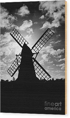 Moulin Noir- Monochrome Wood Print