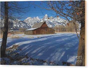 Moulton Barn Wood Print by Adam Jewell