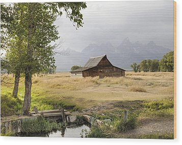 Moulton Barn At Mormon Row Wood Print by Geraldine Alexander