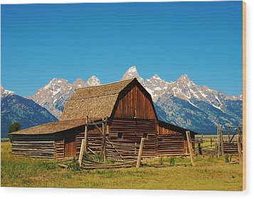 Moulton Barn Wood Print by Dany Lison