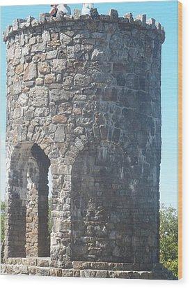 Mount Battie Stone Tower II Wood Print