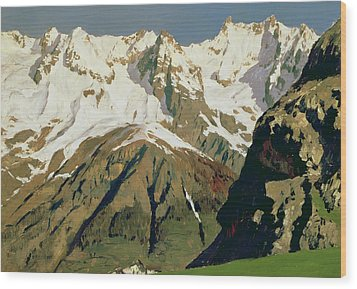Mount Blanc Mountains Wood Print by Isaak Ilyich Levitan