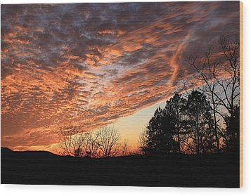 Mount Cheaha Sunset-alabama Wood Print by Mountains to the Sea Photo