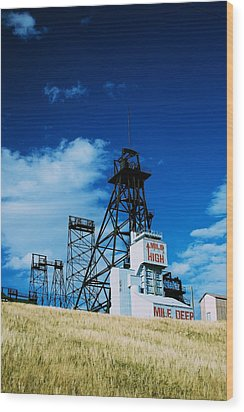 Mount Con Mine 2 Butte Mt Wood Print by Kevin Bone