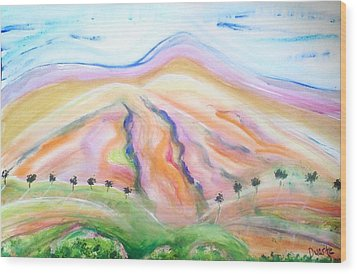 Mount Diablo Wood Print