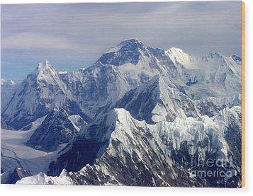 Mount Everest  Wood Print by Jacqi Elmslie