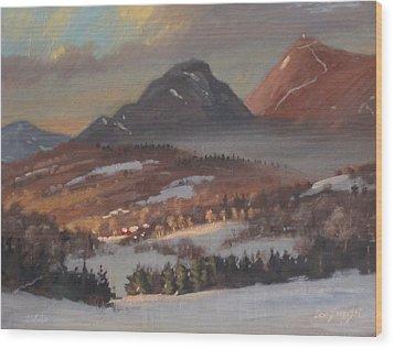Mount Greylock From Clarksburg Wood Print by Len Stomski