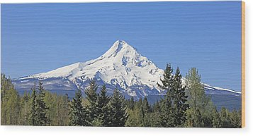 Mount Hood Mountain Oregon Wood Print by Jennie Marie Schell