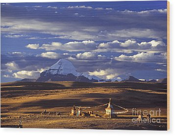 Mount Kailash And Chiu Gompa - Tibet Wood Print by Craig Lovell