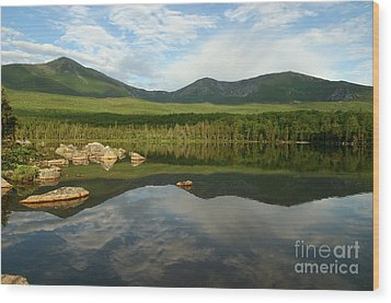 Wood Print featuring the photograph Mount Katahdin by Jeannette Hunt