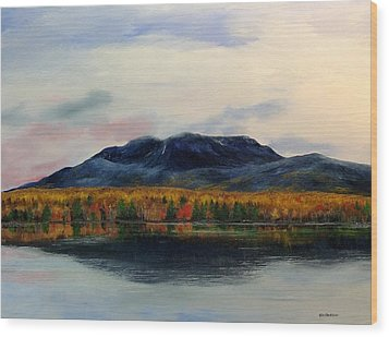 Mount Katahdin Wood Print by Ken Ahlering