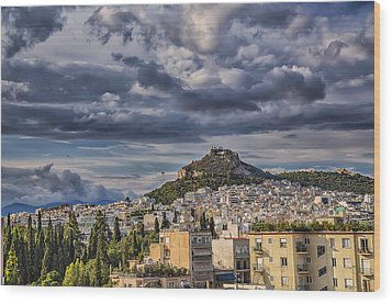 Wood Print featuring the photograph Mount Lycabettus In Late Afternoon by Micah Goff