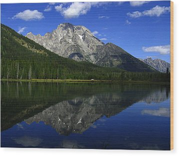 Mount Moran And String Lake Wood Print