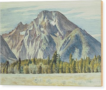 Mount Moran Wood Print by Edward Hopper